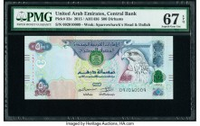 United Arab Emirates Central Bank 500 Dirhams 2015 / AH1436 Pick 32e PMG Superb Gem Unc 67 EPQ.   HID09801242017  © 2020 Heritage Auctions | All Right...