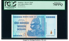 Zimbabwe Reserve Bank of Zimbabwe 100 Trillion Dollars 2008 Pick 91 PCGS Perfect New 70PPQ.   HID09801242017  © 2020 Heritage Auctions | All Rights Re...