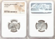 LUCANIA. Metapontum. Ca. 330-280 BC. AR stater (21mm, 1h). NGC Choice Fine. Atha-, magistrate. Head of Demeter left, wreathed in corn ears / META, bar...