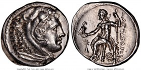 MACEDONIAN KINGDOM. Alexander III the Great (336-323 BC). AR tetradrachm (28mm, 17.12 gm, 5h). NGC Choice AU 5/5 - 3/5, light graffito, scratches. Pos...