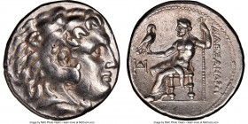 MACEDONIAN KINGDOM. Alexander III the Great (336-323 BC). AR tetradrachm (27mm, 12h). NGC XF. Early posthumous issue of Pella, ca. 323-315 BC. Head of...