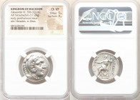 MACEDONIAN KINGDOM. Alexander III the Great (336-323 BC). AR tetradrachm (25mm, 17.28 gm, 12h). NGC Choice VF 5/5 - 4/5. Posthumous issue of Amphipoli...