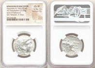 MACEDONIAN KINGDOM. Alexander III the Great (336-323 BC). AR tetradrachm (27mm, 15.43 gm, 10h). NGC Choice VF 5/5 - 3/5. Posthumous issue of Babylon, ...
