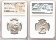 MACEDONIAN KINGDOM. Alexander III the Great (336-323 BC). AR tetradrachm (27mm, 17.17 gm, 12h). NGC Choice VF 5/5 - 3/5. Early posthumous issue of Sid...