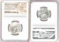 MACEDONIAN KINGDOM. Alexander III the Great (336-323 BC). AR tetradrachm (25mm, 17.23 gm, 12h). NGC Choice VF 5/5 - 3/5. Lifetime issue of Cilicia, My...