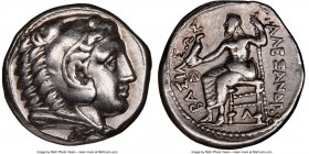MACEDONIAN KINGDOM. Alexander III the Great (336-323 BC). AR tetradrachm (26mm, 8h). NGC VF. Early posthumous issue of 'Amphipolis', ca. 320-315 BC. H...