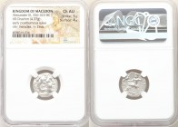 MACEDONIAN KINGDOM. Alexander III the Great (336-323 BC). AR drachm (16mm, 4.37 gm, 12h). NGC Choice AU 5/5 - 4/5. Posthumous issue of Abydus, ca. 310...