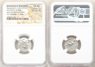MACEDONIAN KINGDOM. Alexander III the Great (336-323 BC). AR drachm (18mm, 4.43 gm, 1h). NGC Choice AU 5/5 - 4/5. Posthumous issue of Abydus, ca. 310-...