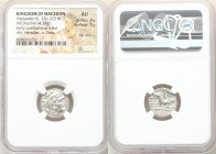 MACEDONIAN KINGDOM. Alexander III the Great (336-323 BC). AR drachm (16mm, 4.28 gm, 3h). NGC AU 4/5 - 5/5, flan flaw. Posthumous issue of Lampsacus, c...