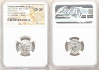 MACEDONIAN KINGDOM. Alexander III the Great (336-323 BC). AR drachm (18mm, 11h). NGC Choice XF. Posthumous issue of 'Colophon', ca. 310-301 BC. Head o...