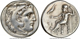 MACEDONIAN KINGDOM. Philip III Arrhidaeus (323-317 BC). AR drachm (16mm, 11h). NGC VF. Sardes, under Menander or Kleitos, ca. 323-319/8 BC. Head of He...