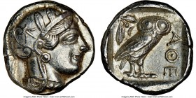 ATTICA. Athens. Ca. 440-404 BC. AR tetradrachm (25mm, 17.19 gm, 1h). NGC Choice XF 5/5 - 4/5. Mid-mass coinage issue. Head of Athena right, wearing cr...