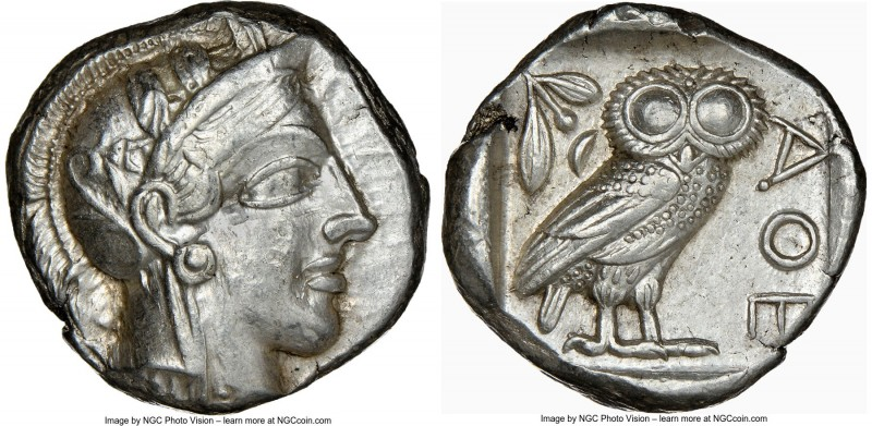 ATTICA. Athens. Ca. 440-404 BC. AR tetradrachm (23mm, 17.20 gm, 12h). NGC Choice...