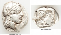ATTICA. Athens. Ca. 440-404 BC. AR tetradrachm (28mm, 17.13 gm, 11h). XF. Mid-mass coinage issue. Head of Athena right, wearing crested Attic helmet o...