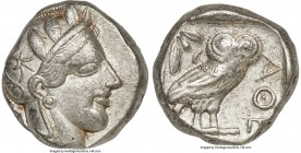 ATTICA. Athens. Ca. 440-404 BC. AR tetradrachm (23mm, 17.12 gm, 10h). VF. Mid-mass coinage issue. Head of Athena right, wearing crested Attic helmet o...
