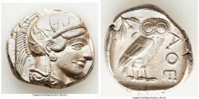 ATTICA. Athens. Ca. 440-404 BC. AR tetradrachm (27mm, 17.18 gm, 5h). Choice XF. Mid-mass coinage issue. Head of Athena right, wearing crested Attic he...