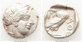 ATTICA. Athens. Ca. 440-404 BC. AR tetradrachm (23mm, 17.16 gm, 11h). Choice XF. Mid-mass coinage issue. Head of Athena right, wearing crested Attic h...
