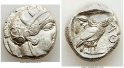 ATTICA. Athens. Ca. 440-404 BC. AR tetradrachm (24mm, 17.18 gm, 10h). Choice XF. Mid-mass coinage issue. Head of Athena right, wearing crested Attic h...
