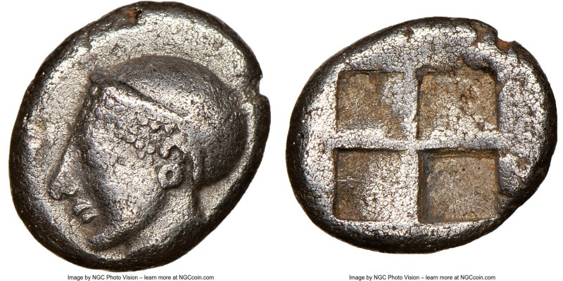IONIA. Phocaea. Ca. late 6th-early 5th centuries BC. AR diobol or hemidrachm (10...