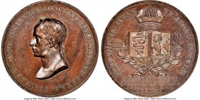 "Franz II bronze ""Oath of Lombardy"" Medal 1815-Dated MS62 Brown NGC, Julius-3084. 33mm. By Manfredini. Issued for the homage to Milan. 