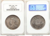George V Dollar 1935 MS65 NGC, Royal Canadian mint, KM30. One year type silver jubilee issue. 