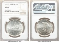 George VI Dollar 1937 MS64 NGC, Royal Canadian mint, KM37. 