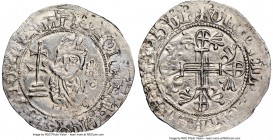 Knights of Rhodes. John-Ferdinand of Heredia Gigliato ND (1377-1396) AU58 NGC, Schlumberger-Plate X, 9 var. 31mm. 3.76gm. 