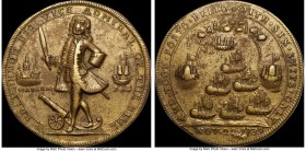 """Admiral Vernon - Havana"" Medal 1739 XF45 NGC, Betts-314, Adams-HAv-1-B (R4). A Choice XF specimen, this medal retains a higher degree of detail than ..."