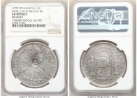 George III Counterstamped Dollar ND (1791-1799) AU Details (Brushed) NGC, KM634. Bank of England oval counterstamp struck on Mexico 8 Reales 1796 Mo-F...