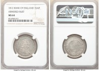 George III Bank Token of 1 Shilling 6 Pence 1812 MS64 NGC, KM-Tn2, S-3771. Armored bust type. 