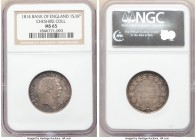 George III Bank Token of 1 Shilling 6 Pence 1814 MS65 NGC, KM-Tn3, S-3772. Rose tinted gray toning over reflective surfaces. Ex. Cheshire Collection