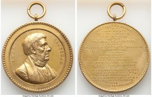 """Birmingham - National Association for the Promotion of Social Science"" gilt bronze Medal 1857 XF (Looped as Issued), 55.0mm. 86.79gm. By J. Moore. LO..."