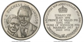 "Edward VIII copper-nickel Proof ""Abdication Anniversary"" Medal 1986 PR64 PCGS, KM-Unl. 38mm. Struck for the 50th anniversary of Edward VIII's abdicati..."