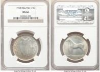 Free State 1/2 Crown 1928 MS66 NGC, KM8. 