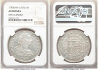 Charles IV 8 Reales 1790 LM-IJ AU Details (Obverse Cleaned) NGC, Lima mint, KM87.