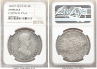 Pair of Certified Assorted Spanish Colonial 8 Reales NGC, 1) Peru: Ferdinand VII 8 Reales 1809 PTS-PJ - XF Details (Chopmark Repair), Potosi mint, KM8...