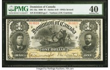 Canada Dominion of Canada $1 31.3.1898 DC-13a PMG Extremely Fine 40. An attractive Series B example printed by The American Bank Note Company, this va...