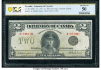 Canada Dominion of Canada $2 23.6.1923 DC-26l PCGS Banknote About Unc 50. Campbell-Clark signatures are seen on this example that features a large por...