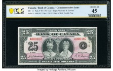 Canada Bank of Canada $25 6.5.1935 Pick 48 BC-11 Commemorative Issue PCGS Banknote Choice XF 45. An always delightful and desirable type, the example ...
