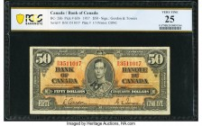 Canada Bank of Canada $50 2.1.1937 BC-26b PCGS Banknote Very Fine 25. A beautiful Gordon-Towers example, this note displays vivid colors and impressiv...
