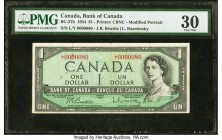 Canada Bank of Canada $1 1954 BC-37b PMG Very Fine 30. Low serial number 80.  HID09801242017  © 2020 Heritage Auctions | All Rights Reserved