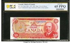 Canada Bank of Canada $50 1975 BC-51b PCGS Banknote Gem Unc 65 PPQ. A portrait of William Lyon Mackenzie is seen on the front of this note, with the C...