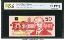 Canada Bank of Canada $50 1988 BC-59aA Replacement PCGS Banknote Superb Gem Unc 67 PPQ. A portrait of William Lyon Mackenzie enhances this Thiessen an...