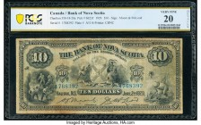 Canada Halifax, NS- Bank of Nova Scotia $10 2.1.1929 Ch.# 550-18-20a PCGS Banknote Very Fine 20 Details. A surviving example from the last series prin...