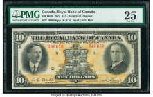 Canada Montreal, PQ- Royal Bank of Canada $10 3.1.1927 Ch.# 630-14-06 PMG Very Fine 25. The Canadian coat of arms flanked by portraits C.E Neil and H....
