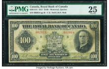 Canada Montreal, PQ- Royal Bank of Canada $100 3.1.1927 Ch.# 630-14-18 PMG Very Fine 25. A scarce C.E. Neil-H.S. Holt signature example, this note hol...