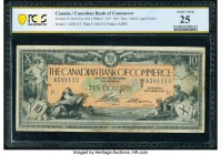 Canada Toronto, ON- Canadian Bank of Commerce $10 2.1.1917 Ch.# 75-16-04-12a PCGS Banknote Very Fine 25. Juno and a bull overlooking Ceres with a herd...