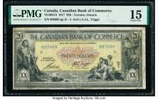Canada Toronto, ON- Canadian Bank of Commerce $20 2.1.1917 Ch.# 75-16-04-18 PMG Choice Fine 15. A rare issue, this note was printed by The American Ba...