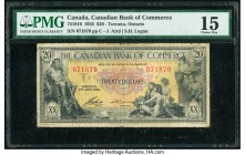 Canada Toronto, ON- Canadian Bank of Commerce $20 2.1.1935 Ch.# 75-18-10 PMG Choice Fine 15. A surviving example of highest denomination from the last...