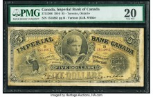 Canada Toronto, ON- Imperial Bank of Canada $5 1.1.1910 Ch.# 375-12-06 PMG Very Fine 20. This institution rose from humble origins to become one of Ca...